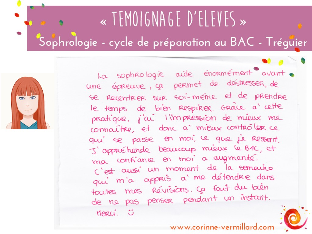 temoignage-preparation-gestion stress-sophrologie-treguier-savina-corinne-vermillard-sophrologue-BAC 2016